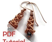 Chain Mail Drop Earrings Tutorial, Chain Mail Jewelry Tutorial, Instant PDF Download