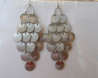 SilverTone Layered Earrings