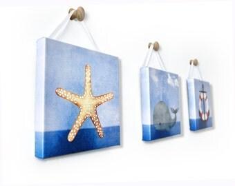 Maritime Nautical Starfish Wall Art Room Decor Print for Nursey, Big Kid Girl or Boy, Office, Kitchen, Living Room, Bedroom Artwork