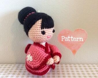 Amigurumi Anime Doll Pattern : Amigurumi Crochet Doll Pattern Anime Kiki the Kitty Cat Girl