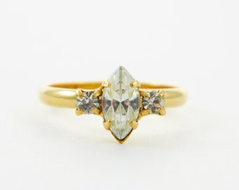 Marquise White Topaz Ring