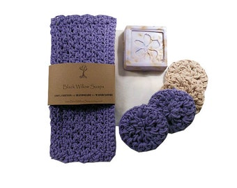 Lavender Bath Gift Set, Lavender Bath Set, Spa Kits and Gifts, Gift for Mom, Mother's Day Gift, Gift for Her, Wife Gift, Gift for Women