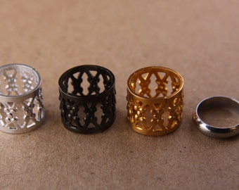 9mm Hole (3/8 Inch) Filigree Cuffs