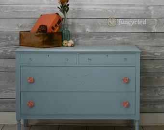 Blue Antique Dresser