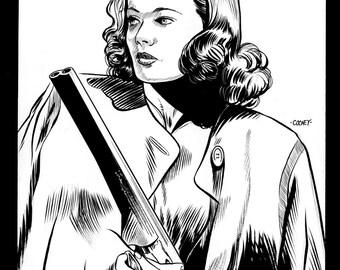 Gene Tierney (Laura) Original Art