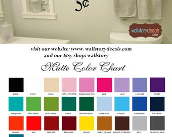 Family Wall Quotes Decal   BATHROOM 5 Cents   Home Wall Decals   Bathroom  Wall Sayings
