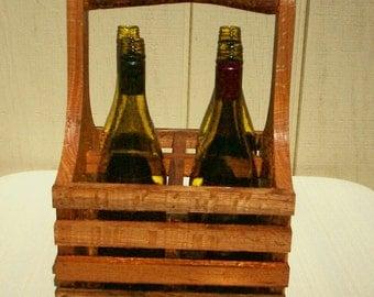 Wine Tote ,Wine Carrier, Beverage Carrier,Wine Rack, Wine Storage