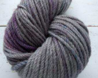 Winter Storm- KR Rustic: Aran hand dyed yarn 100 g/3.5 oz 115 meters/125 yards