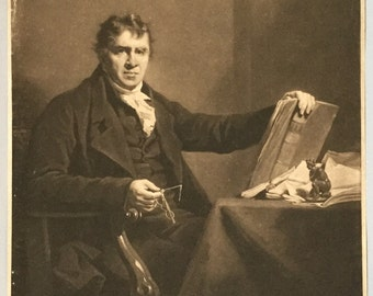 Antique engraving of John Clerk Esq, Lord Eldin, Engraver C Turner after H Raeburn