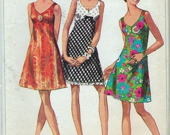 Vintage 1968 Simplicity 7988  Mod Bra Dress Sewing Pattern Size 12 Bust 34""