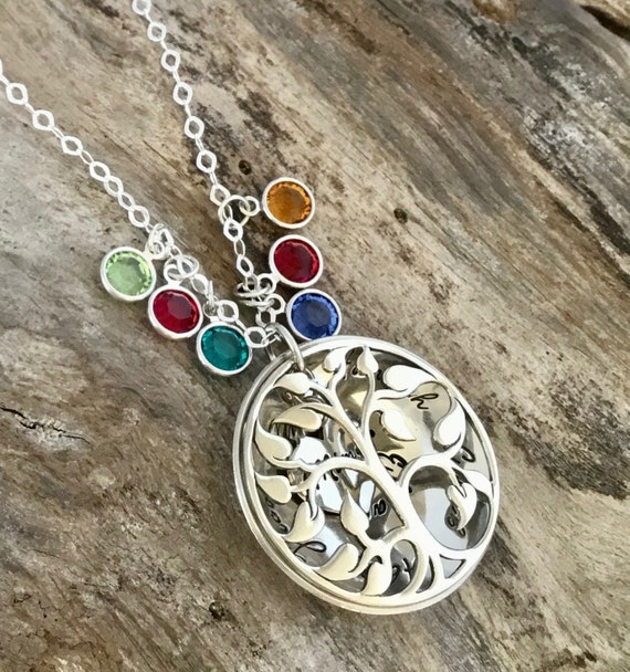 Mom necklace/ Personalized /Hand Stamped /Sterling Silver/ Pendant /Locket Necklace/Mommy Necklace/ Great gifts idea for Mom