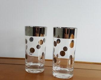 Set of 2 Dorthy Thorpe Polka Dot Drinking Glasses