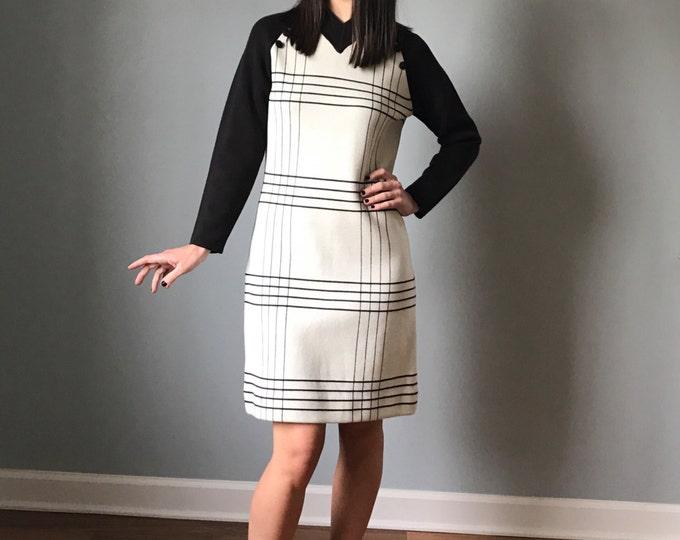 Vintage 60s Two Tone Mod Sweater Dress
