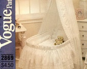 Vogue 2869 Baby Tiered Bassinet Skirt and Other Accesseries for an Heirloom Infant Nursery