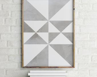 Abstract Print, Scandinavian Print, Black and White, Digital Download Large Downloadable Poster, Instant Download, Minimal Design Print