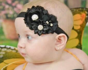 Black Headband, Black Baby Headband,  Headband, Baby Headband, Infant Headband, Newborn Headband
