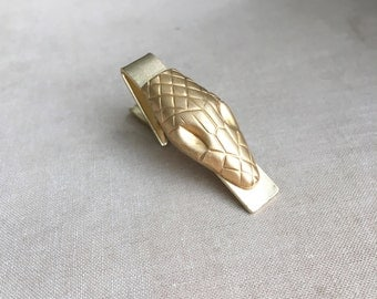 Snake Tie Bar,snake, python, snake jewelry, wedding,tie tack tie bar tie clip gold mens accessories gift BRASS SNAKE