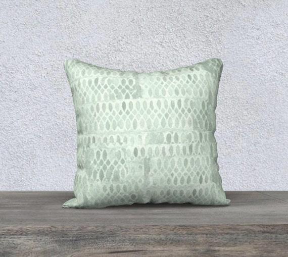 """Mint Pillowcase in Velveteen, 14""""x20"""", 18"""" x18"""""""