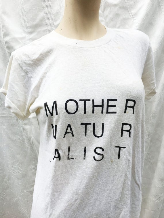 mother naturalist tshirt vintage small/medium undershirt stained