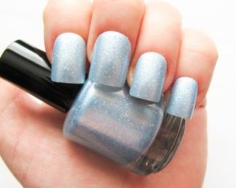 Glass Slippers ~ Nail Polish // Glitter Nail Polish // Glitter // Blue // Indie Polish // Vegan Friendly // Nail Polish