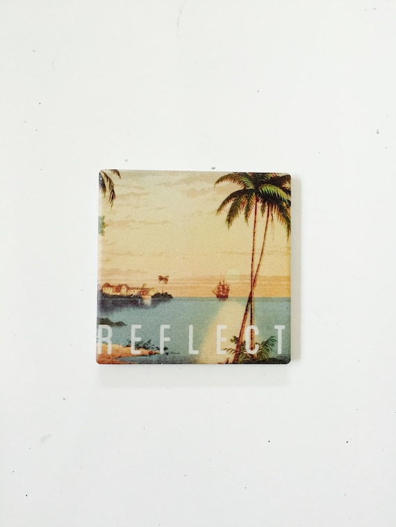 Beach Coasters / Beach Decor / Nautical Coasters / Beach Gift / Surf Gift / wholesale beach / palm tree decor / vintage