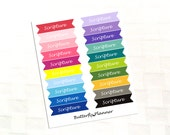Scripture Double Flag Rainbow Stickers, Bible Study, Reading, Lesson 20 Stickers