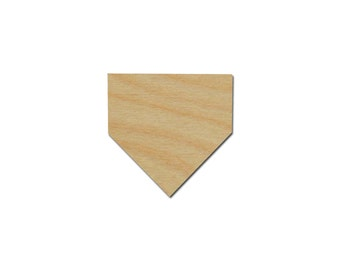 Baseball Home Plate Shape Unfinished Wood Craft Cutouts Variety of Sizes Artistic Craft Supply