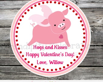 Printable Valentine Cards, Pig Valentine's Day Cards, Classroom Cards, Valentine's Day,  Kids Valentine Cards, DIY Valentine's Cards