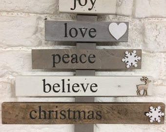 Wooden Christmas Tree - reclaimed wood tree- christmas decoration - rustic christmas - pallet wood tree -  christmas in july