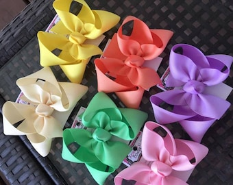 small toddler spring hairbow set