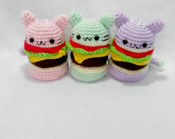 Pusheen Amigurumi Burger Plushies