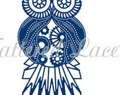 Tattered Lace Die - STeampunk Owl