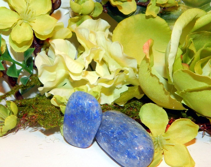 TUMBLED IOLITE gemstone - large size hand-picked natural stone - Reiki Wicca Pagan Energy-work Tool