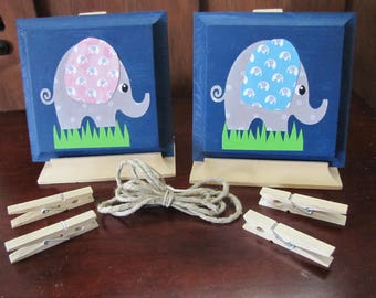 Child elephant art display hanger