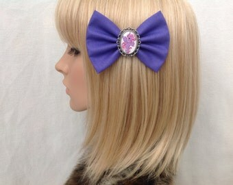 My little pony hair bow clip rockabilly psychobilly kawaii kitsch purple pin up fabric violet retro cute vintage ladies
