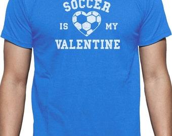 Soccer is My Valentine - Men's Short Sleeve T-Shirt