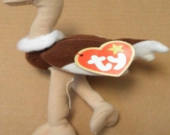 Stretch Ostrich - Retired Ty Beanie Baby - 1997 - Mint Condition
