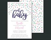 Baby Girl Sprinkle Shower Invitation