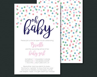 Baby Girl Sprinkle Shower Invitation