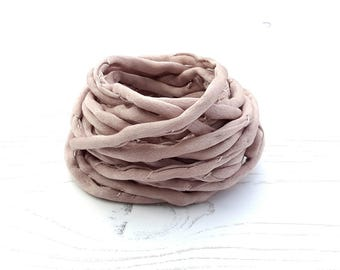 Silk Cord hand dyed 3 meters taupe greige silk string 4mm