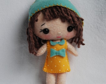 Hand-Sewn Felt Pocket Doll