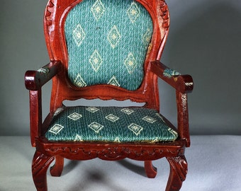 "Dollhouse Miniature 1"" Scale Chair (Itz)"