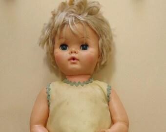 1960s Uneeda Doll Co. Inc. Large 20 Inch Sleep Eye Drink & Wet Baby Doll | DewDrop Doll | Sweetums Doll | 5DW