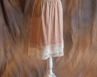 Cream Lace Skirt/Dress Extender, Slip Lengthener