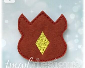 "Fantasy Tournament Fire Badge Feltie Digital Design File - 1.75"""