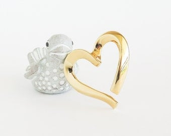 MONET Modern Heart Brooch Pin