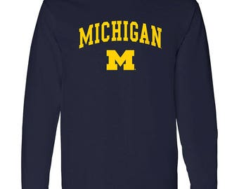 Michigan Wolverines Arch Long Sleeve T-Shirt
