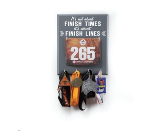 Running Medal Display - running medal - medal display - It's Not about Finish Times....It's About Finish Lines