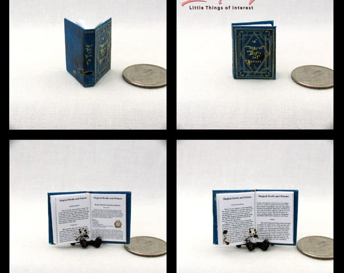MAGICAL DRAFTS And POTIONS Magical Textbook Miniature Book Dollhouse 1:12 Scale Readable Book Harry Potter Wizard Witch Fortune Teller Gypsy