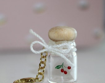 Glass Cherry Jar Charm/Midori Charms/Planner Charms/Fauxdori Charms: Travelers Notebook Charm
